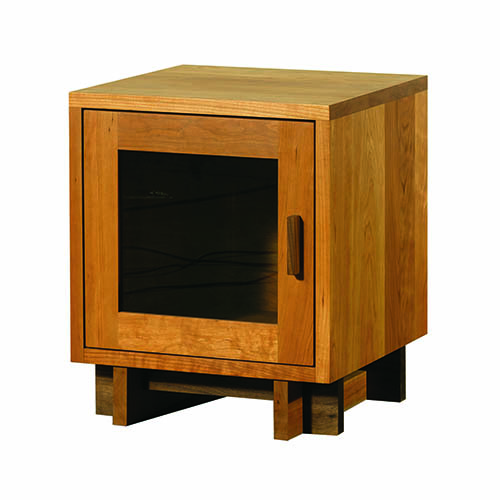 Vermont Furniture Skyline Nightstand with Glass Door