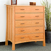 New England Wood Weston 5-Drawer Dressers