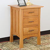 New England Wood Weston 3-Drawer Nightstand