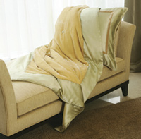 Kumi Kookoon Silk Velvet Throw Blanket