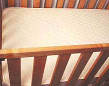 Organic Cotton and Wool Innerspring Crib Mattress